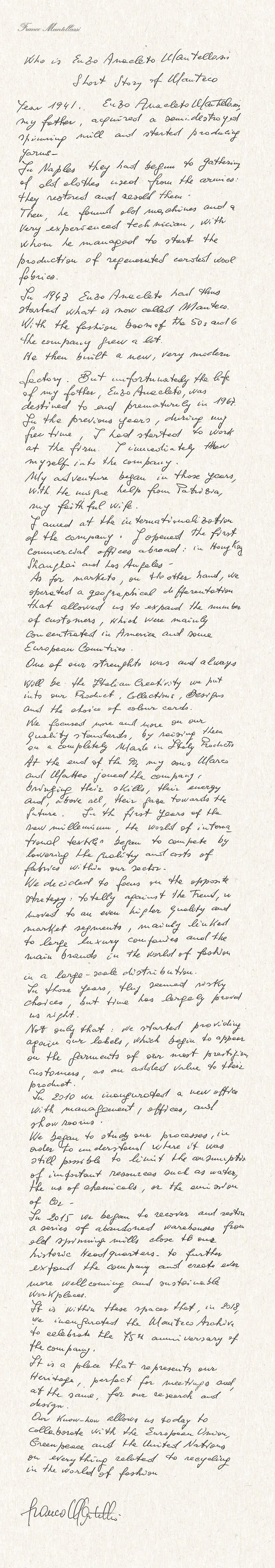 Mantellassi letter