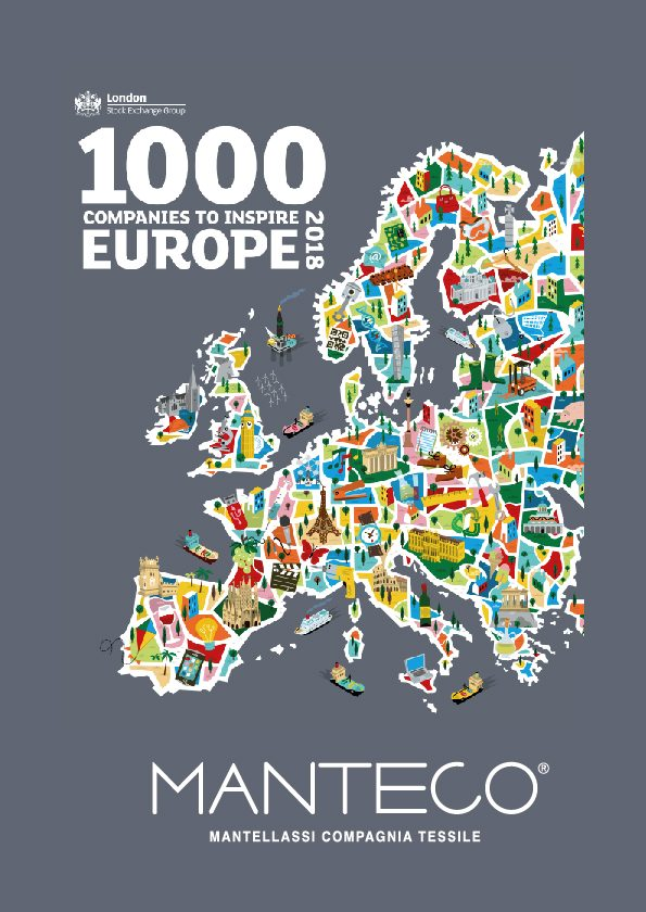 "Manteco was celebrated amongst the ""1000 Companies to inspire Europe"""